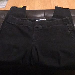 Black Slip Up Jeans